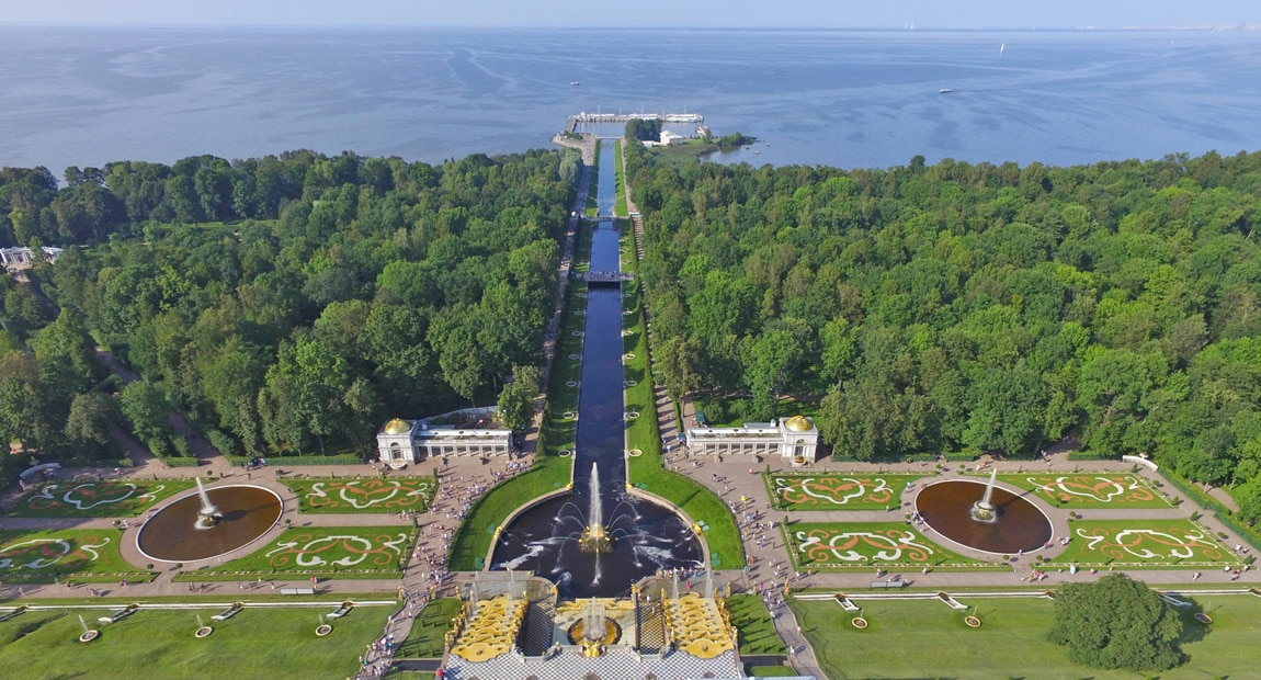 Peterhof and the Gulf of Finland